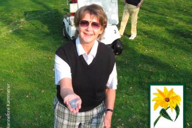 Margarete Voeltl auf dem Golfplatz
