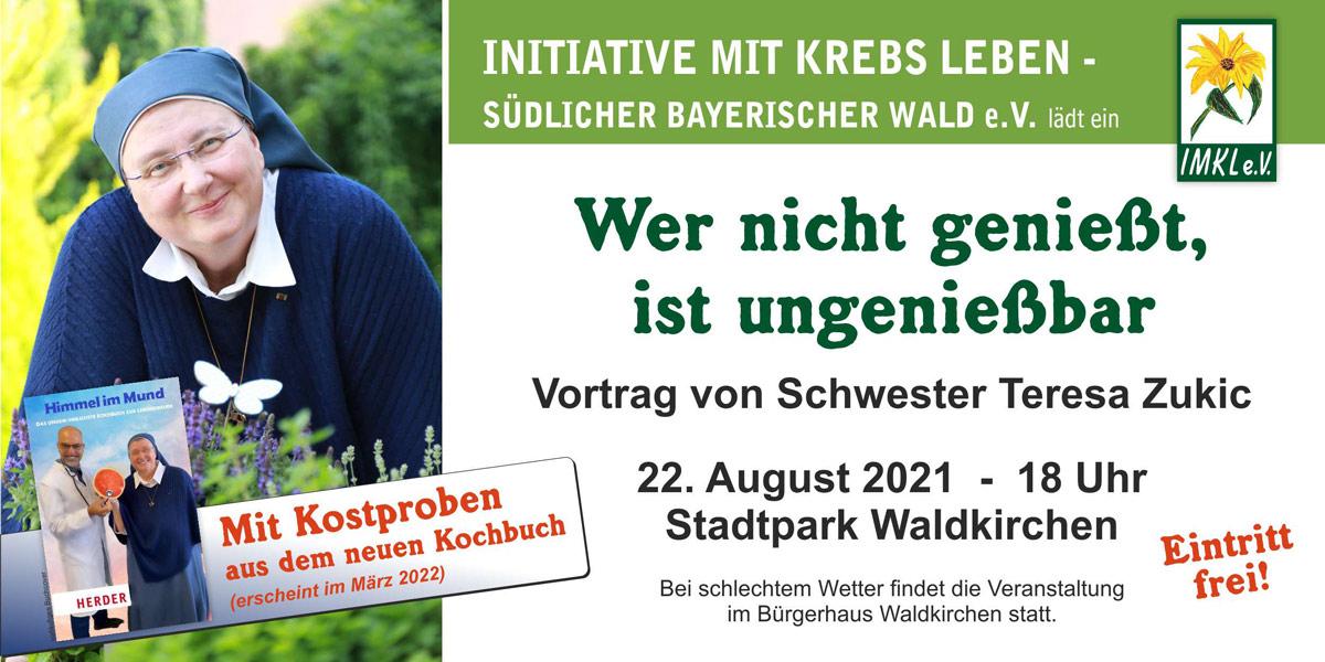 Bild zu Vortrag von Schwester Teresa im Stadtpark Waldkirchen